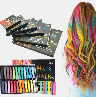 Disposable Hair Dye Pen Non-Toxic Hair Dye Crayon Chalk Girls Kids Party Cosplay DIY Temporary Styling Tools discountshub