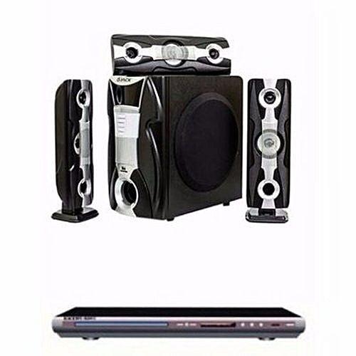 Djack DJ-Q3L Home Theatre System Speakers/ Powerful DVD Player discountshub