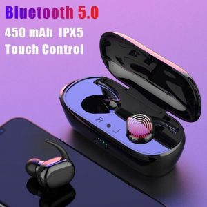 Fingerprint Touch Bluetooth 5.0 Earphones Wireless 4D Stereo Headphones discountshub