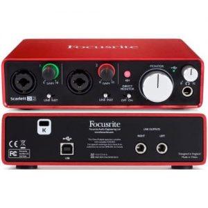 Focusrite Scarlett 2i2 Soundcard - 3rd Gen - Usb Audio Interface discountshub