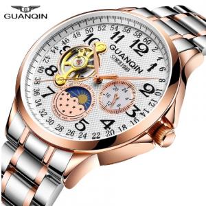 GUANQIN 2020 men's watches top brand luxury business Automatic clock Tourbillon waterproof Mechanical watch relogio masculino discountshub