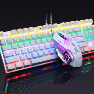 Gaming Mechanical Keyboard and mouse Blue Switch,Anti-ghosting For gamer, USB wired Keyboard Laptop PC discountshub