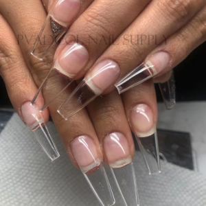 Gel X Nails Extension System Full Cover Sculpted Clear Stiletto Coffin False Nail Tips 240pcs/bag discountshub