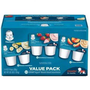 Gerber Yogurt Blends - 12counts x 3.5ounce-Pack of 3 discountshub