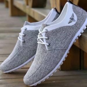 High Quality Canvas Casual Shoes for Men Comfortable Soft Mans Walking Footwear Breathable Linen Surface Flats Shoes Loafers discountshub