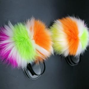 Kid's Heel Strap Sweet Fluffy Fur Sandals Child Home Furry Fur Flat Shoes Toddler Fashion Cute Plush Fur Warm Non-slip Slides discountshub