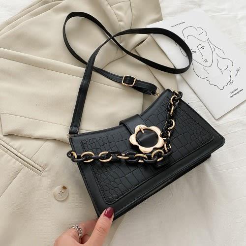 Ladies Chain Pu Handbags - Black discountshub