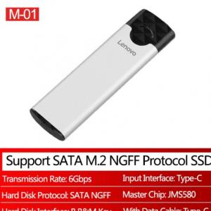 Lenovo M-01/M-02 M2 SSD Case USB 3.1 Gen2 Type C External SSD Disk Enclosure For M.2 NGFF SATA B B+M Key/NVME PCIE M Key SDD Box discountshub