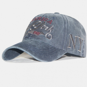 Men Cotton Made-old Embroidery Letter Casual Classical Baseball Hat discountshub