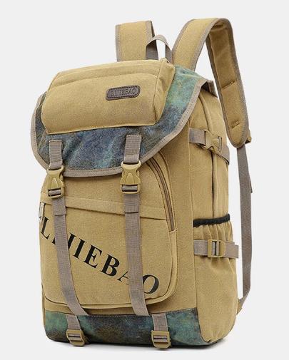 Men Outdoor Canvas Large Capacity 15.6 Inch Laptop Bag Travel Backpack discountshub