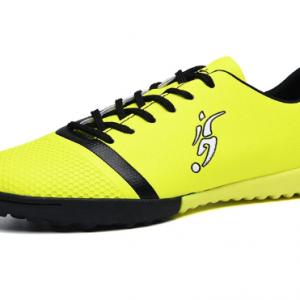 Men Outdoor Fluorescent Color Lace-up Comfy Non-slip Soccer Shoes discountshub