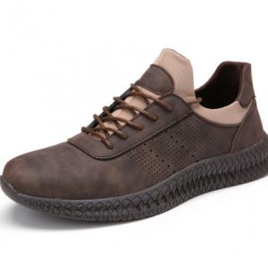 Menico Men Retro Microfiber Leather Non Slip Sport Casual Shoes discountshub