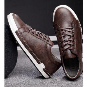 Men's Leather Shoes - Brown discountshub