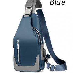 Men's Messenger bag shoulder Oxford cloth Chest Bags Crossbody Casual messenger bags Man USB charging Multifunction Handbag discountshub