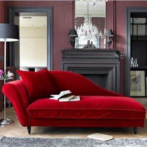 O2 Royal Chaise Lounge - Red discountshub