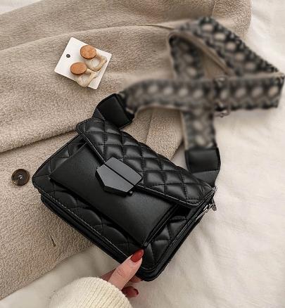 Shoulder Bags 크로스백 Wide Strap PU Plaid 2021 New Women Shoulder Crossbody Bags For Women сумка женская сумка через плечо discountshub