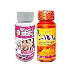 Supreme White Glutathione Pills 1500000mg & Acorbic Vitamin C - 1000mg discountshub