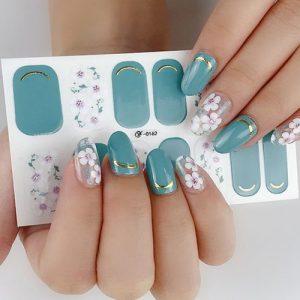 5pcs Mixed Colors DIY Nail Art Tips Decoration Sticker discountshub