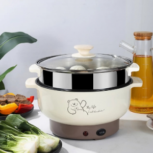 A Single Piece of 1000W Multi-Functional Household Stainless Steel Easy to Clean Fast Heating Two-Speed Rice Cooker with Steamer discountshub
