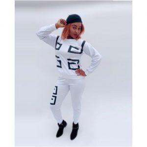 Alexis Ladies Long Sleeve Two Piece Tracksuit - White discountshub