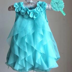 Baby Girls Dress 2021 Summer Chiffon Party Dress Infant 1 Year Birthday Dresses Girl Clothes & Headband Vestidos discountshub