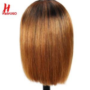 HairUGo Brazilian Remy 1B 30 Straight Lace Wigs 1B 99J 4x4 Bob Lace Closure Wig Human Hair Wigs For Black Women Pre Plucked 180% discountshub
