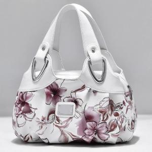 Luxury Handbag Women Printing PU Leather Handle Bag Fashion Brand Lady Tote Big Capacity Shoulder Bag Shopping Purse discountshub