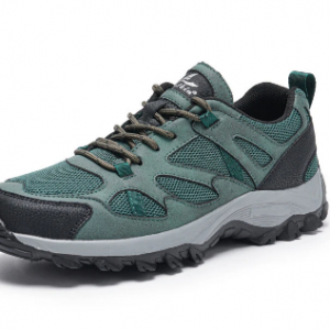 Men Breathable Mesh Fabric Lace-up Hard Wearing Hiking Shoes discountshub