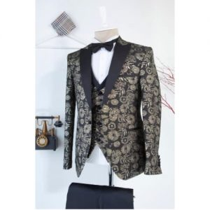 Men's 3 Piece Slim Fit Single Breasted Fashion Suit discountshub