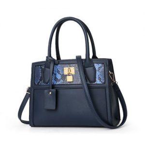 New Fashion Leather Ladies Handbag-Blue discountshub