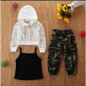 New Girls Camo 3 Piece Fashion Trending Wear discountshub