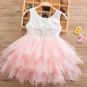 Princess Baby Girls Fancy Wedding Dress Sleeveless Flower Sequins Birthday Party Wear Toddler Kids Baptism Gown Tutu Outfits discountshub