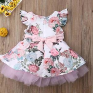 Princess Toddler Newborn Baby Girls Dress Flower Lace Tutu Party Wedding Birthday Dress For Girls Summer Baby Girl Clothing discountshub