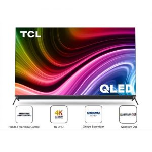 TCL 65-Inch QLED 4K Android Smart AI TV With Onkyo Speakers discountshub
