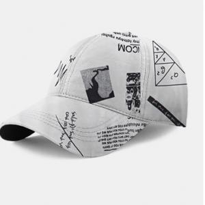 Unisex Mathematics Graffiti Pattern Printing Fashion Baseball Cap discountshub