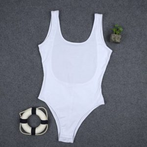 Women Sleeveless Sexy Backless Bodysuit Scoop Neck Solid Color Pullovers discountshub