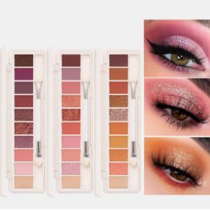 10 Colors Eyeshadow Palette Conceler Matte Shimmer Glitter Waterproof Eyeshadow Powder discountshub