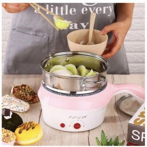 18Cm Double-Layer Stainless Steel Mini Electric Pot Pan Cooker Cooking Fry Stew 4.8 out of 5 discountshub