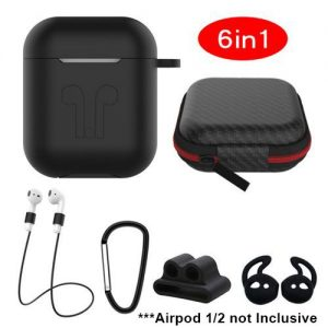 6 In 1 Apple AirPodds 1/2 Silicon Protective Cover Case discountshub