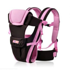 Baby Carrier Backpack Plus Belt 4 - Positional Style - Coffee-Pink discountshub