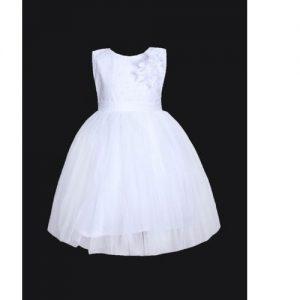 Baby Girls Princes Dress - White discountshub