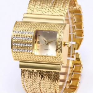 Creativity 2021 Fashion Luxury Ladies Wrist Watches Top Brand Gold Steel Strap Waterproof Women's Bracelet Watch Zegarek Damski discountshub