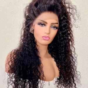 Curly Synthetic Wig Natural Black Lace Front Wigs Loose Wave Lace Wig High Temperature Fiber Daily Wear for Women discountshub