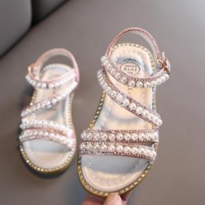Girl Sandals Summer Fashion Kids Baby Girls Bling Rhinestone Princess Single Sandals For Little Big Girl's Shoes discountshub
