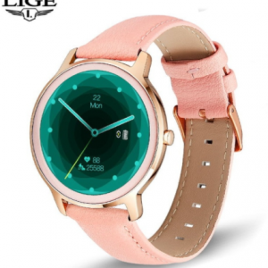 LIGE 2020 New Smart Watch Women Physiological Heart Rate Blood Pressure Monitoring For Android IOS Waterproof Ladies Smartwatch discountshub