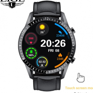 LIGE 2021 New Smart Watch Men Full Touch Screen Sports Fitness Watch IP67 Waterproof Bluetooth For Android ios smartwatch Mens discountshub