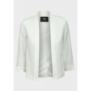 Ladies Open Front 3/4 Sleeve Blazer discountshub