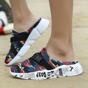 Large Size Men Slippers High Quality Summer Breathable Outdoor Mens Half Slippers Camo Fashion Trend Shoes Sport Sandals Male discountshub
