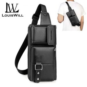LouisWill Fashion Men Crossbody Waterproof Chest Waist Bag discountshub