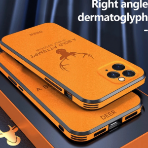 Luxuy Christmas Deer Leather Phone Case For iPhone 12 11 Pro XS XR SE XSMAX 7 8 6 Plus Ultra-thin Protection Cover discountshub